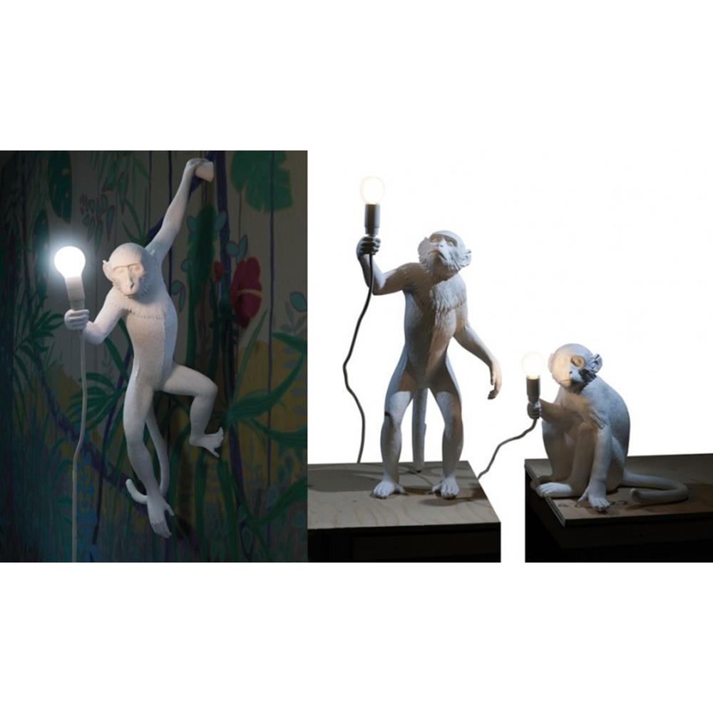 Lampada scimmia monkey lamp seletti nikelshop for Lampada arredo