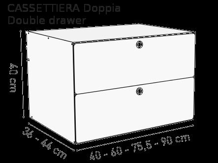 Cassettiera Doppia K1 Kriptonite