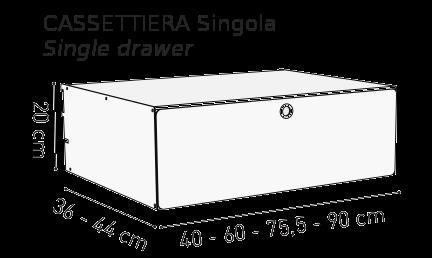 Cassettiera singola K1 Kriptonite