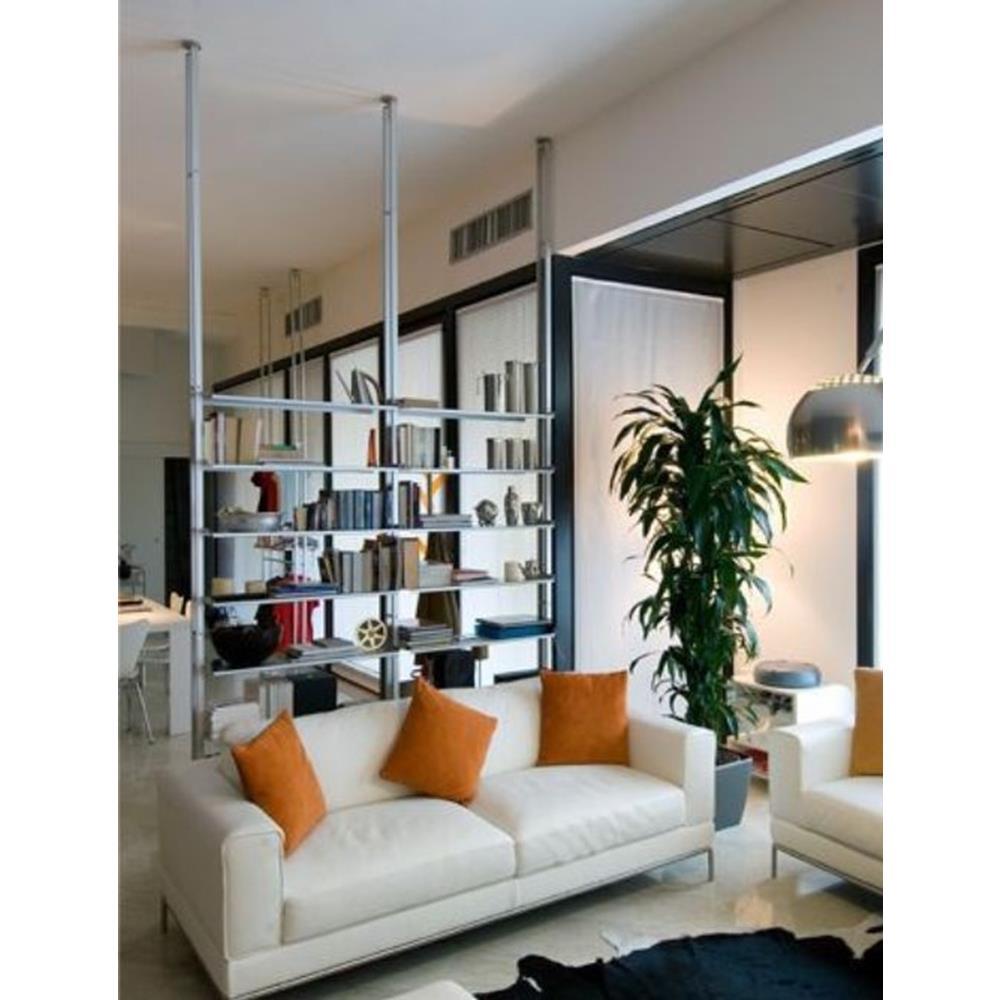 Libreria Bifacciale A Soffitto libreria k2 kriptonite a pressione tra pavimento e soffitto