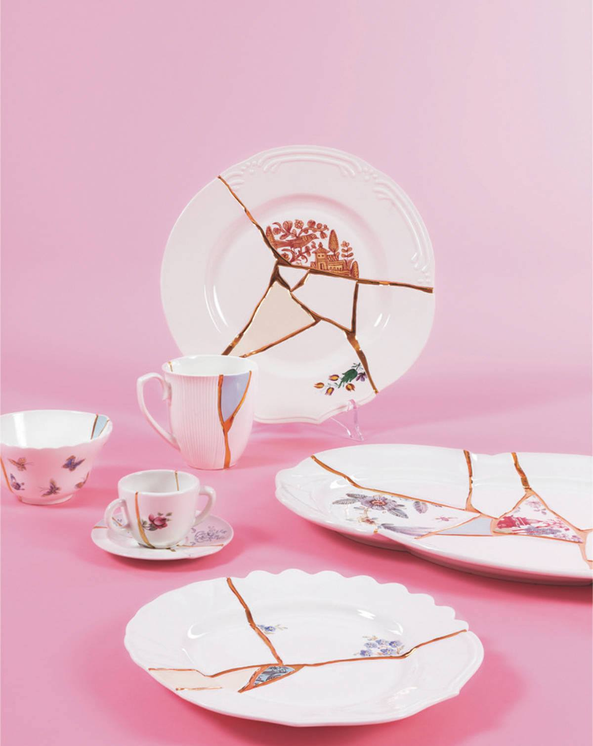 Kintsugi Seletti ripropone l'antica arte giapponese che fa di un piatto rotto u…